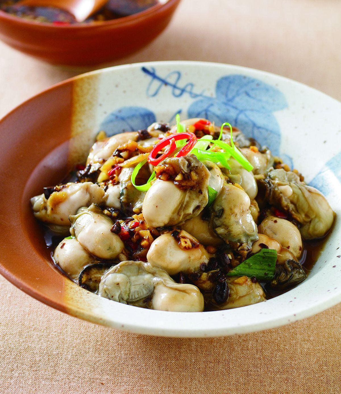 食譜:豆豉汁蒸生蚵
