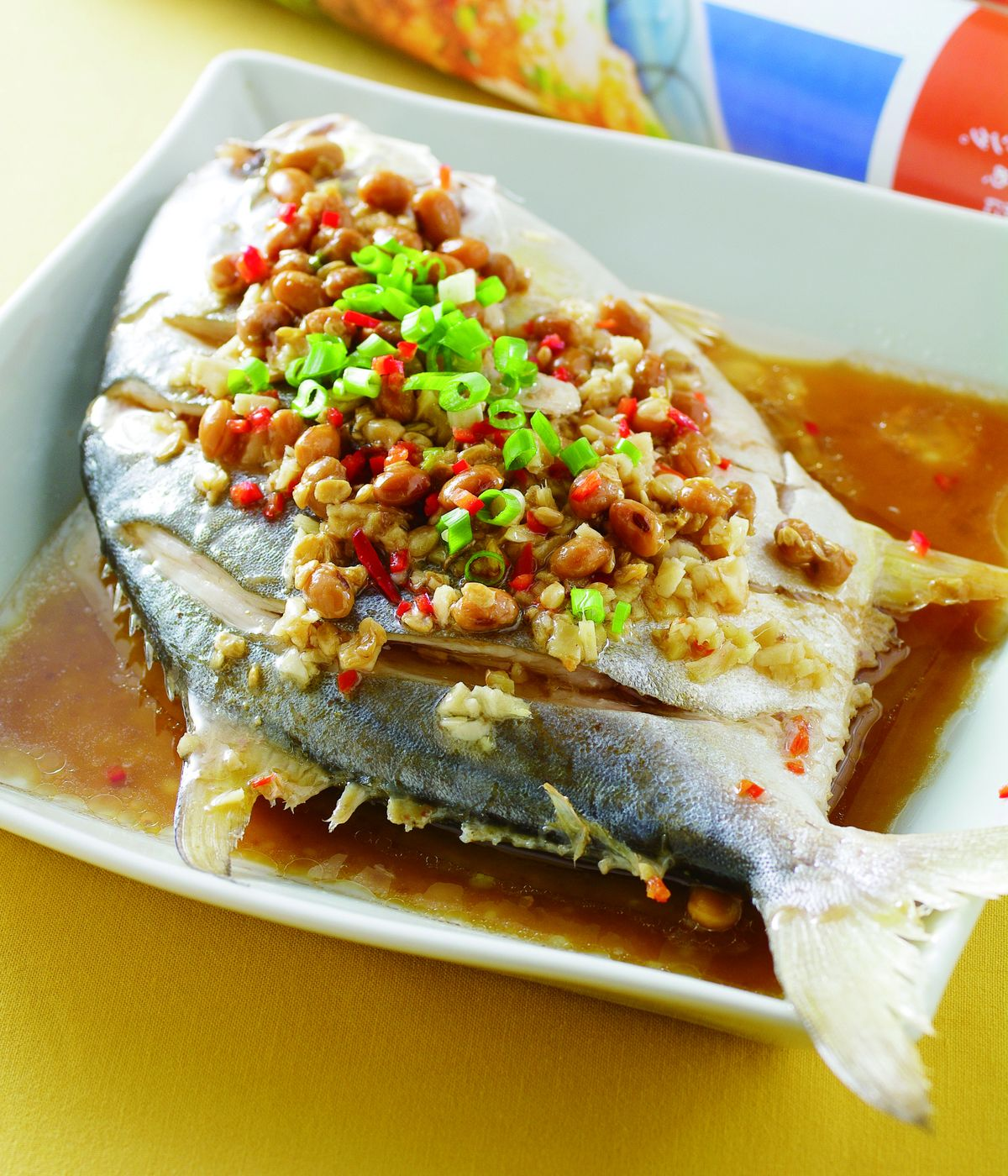 食譜:豆醬蒸金鯧魚