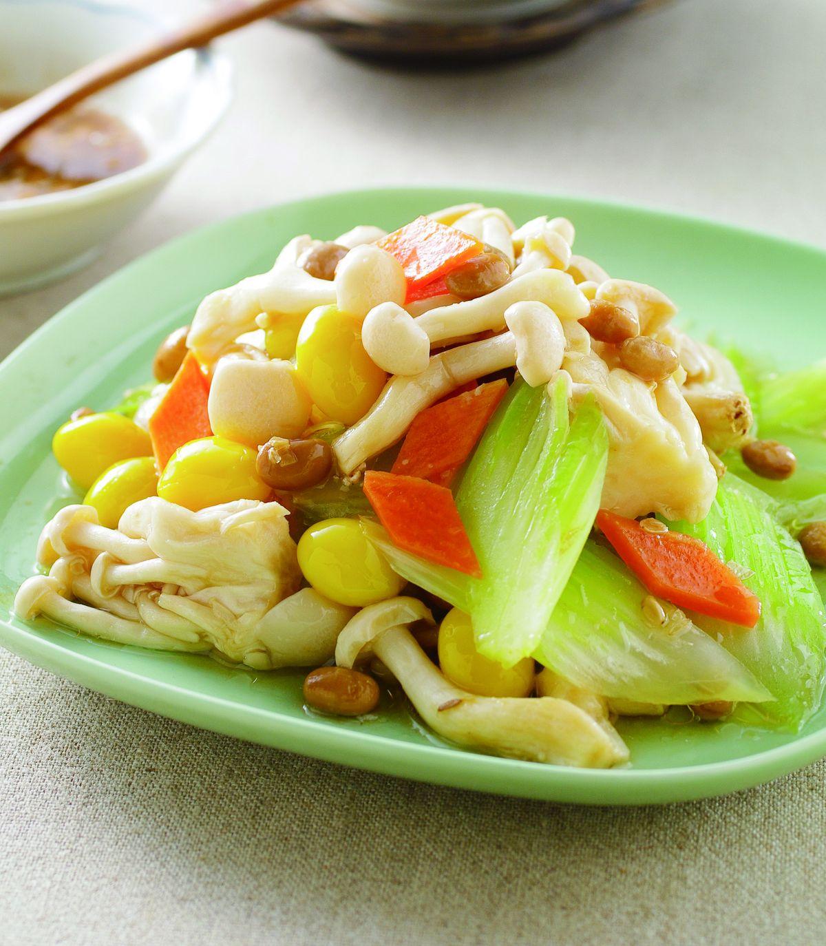 食譜:豆醬美白菇