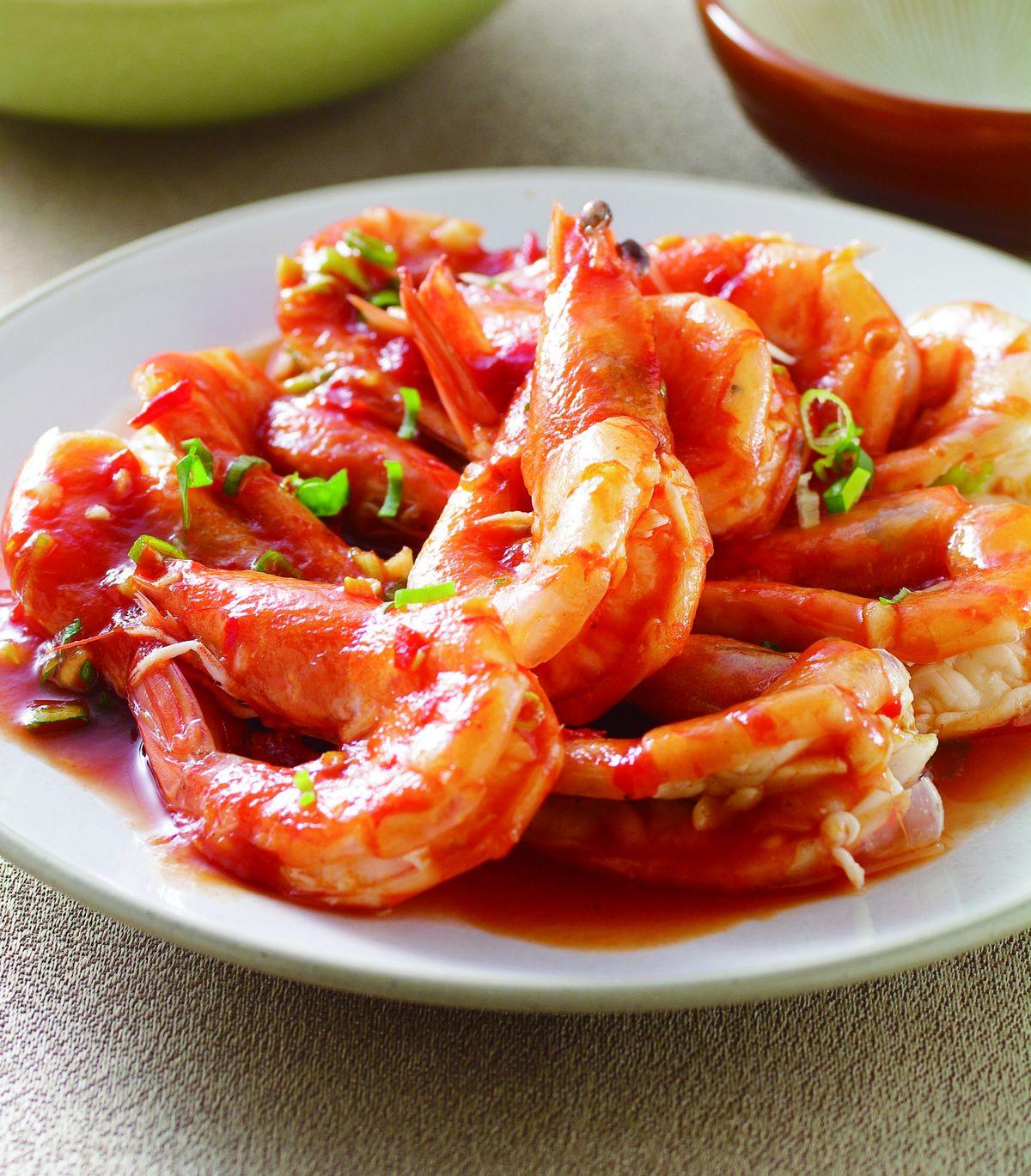 食譜:乾燒蒸蝦
