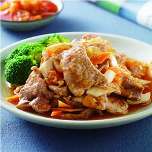 泡菜蒸肉片