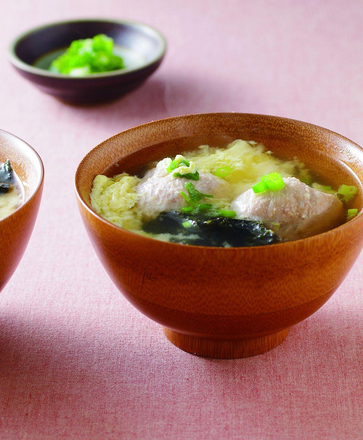 食譜:味噌貢丸蛋花湯