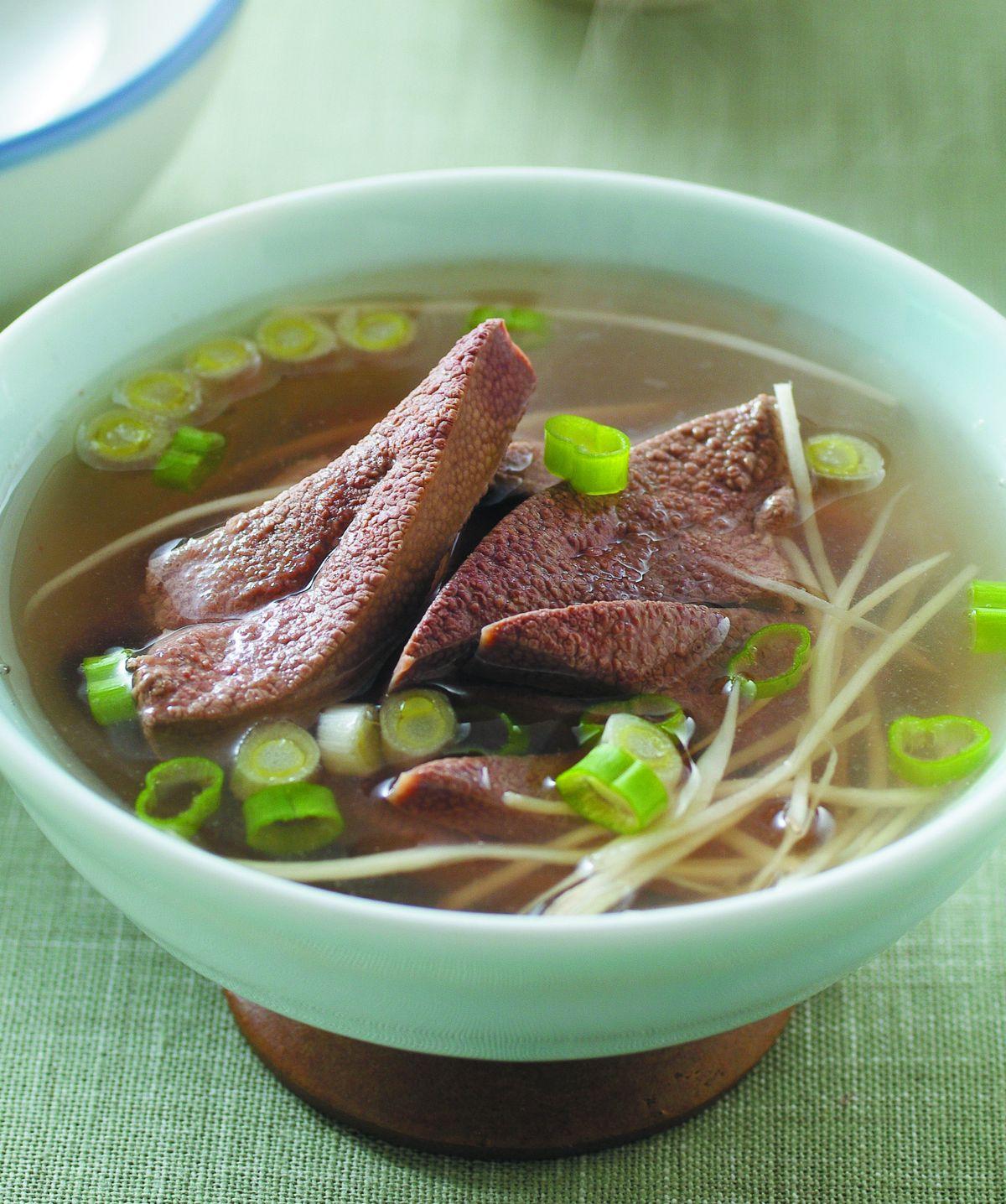 食譜:豬肝湯(1)