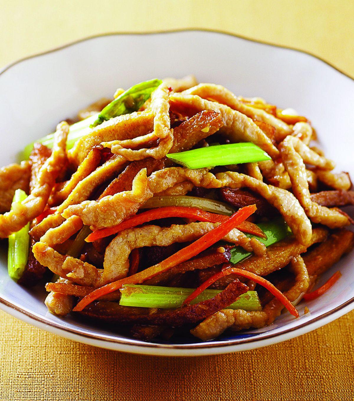 食譜:豆干炒肉絲(1)
