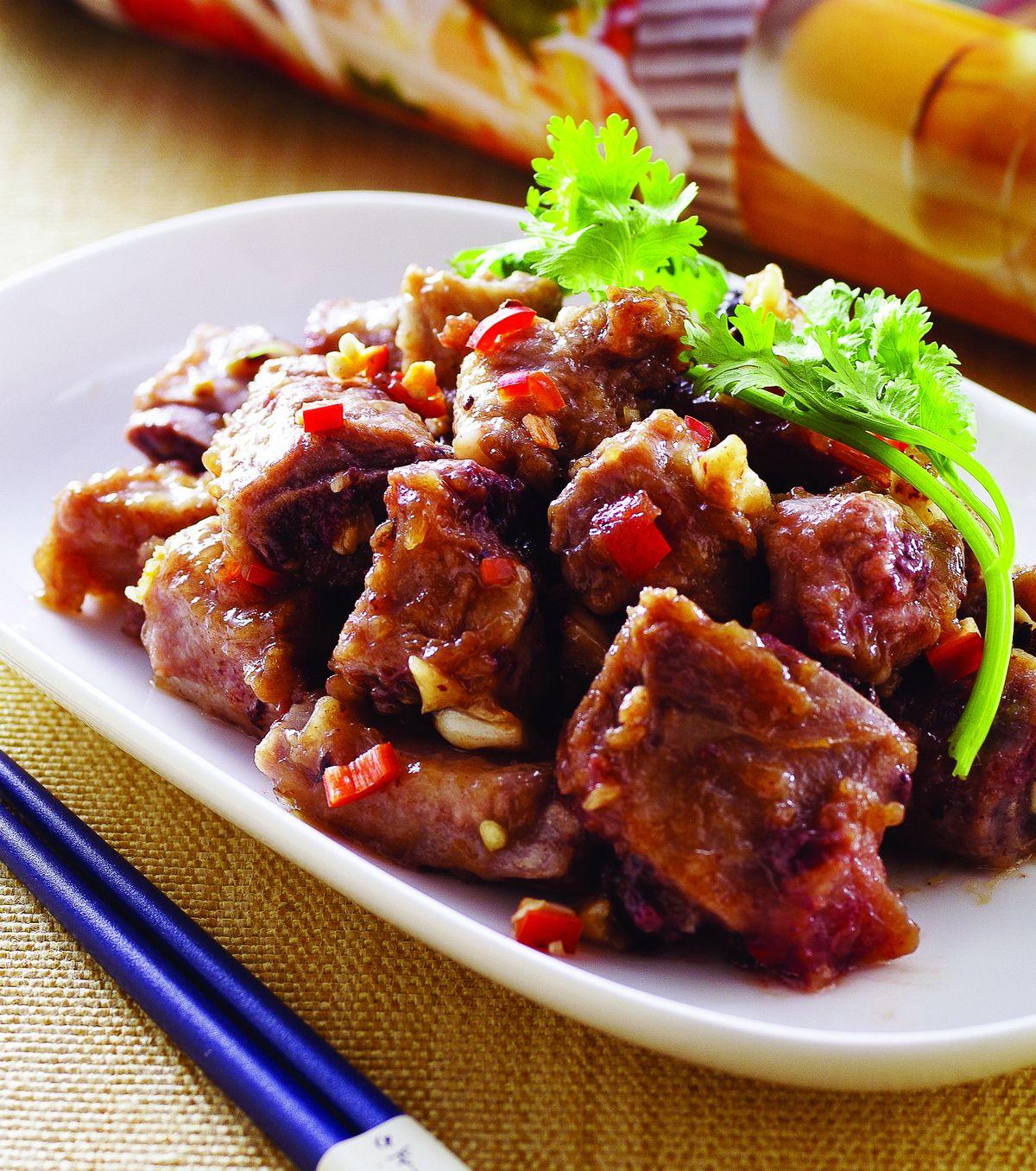 食譜:豆豉蒸排骨(2)