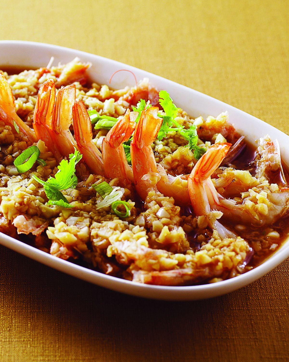 食譜:蒜泥蒸蝦(1)
