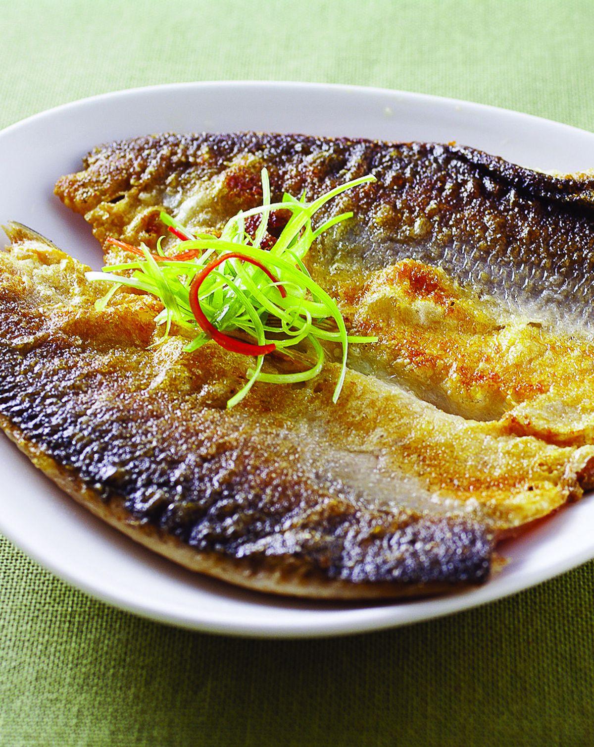 食譜:乾煎虱目魚(1)