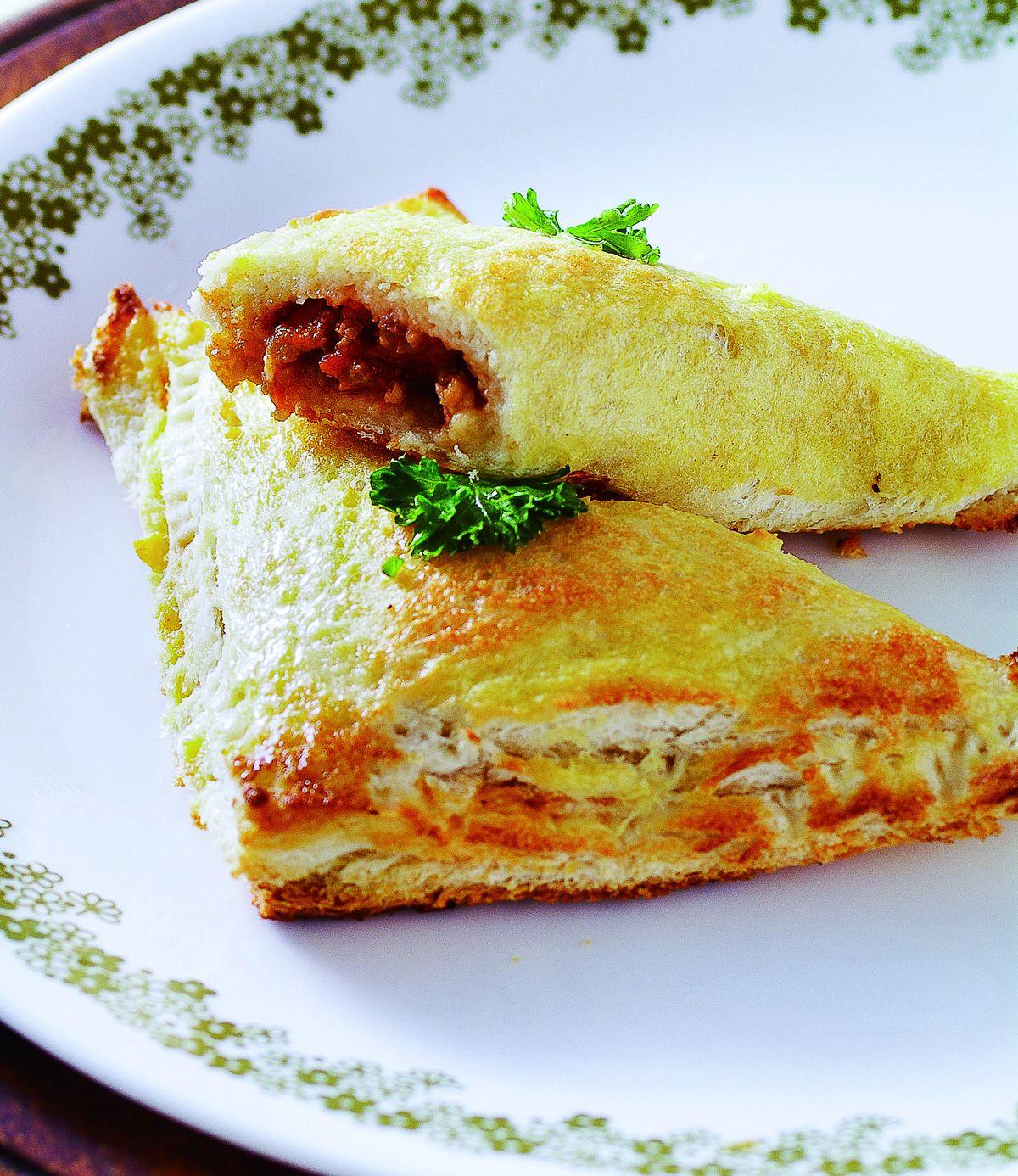 食譜:肉醬三角土司