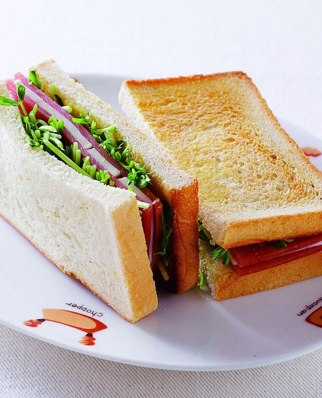 食譜:火腿起司三明治
