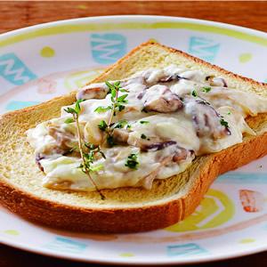 奶油野菇土司