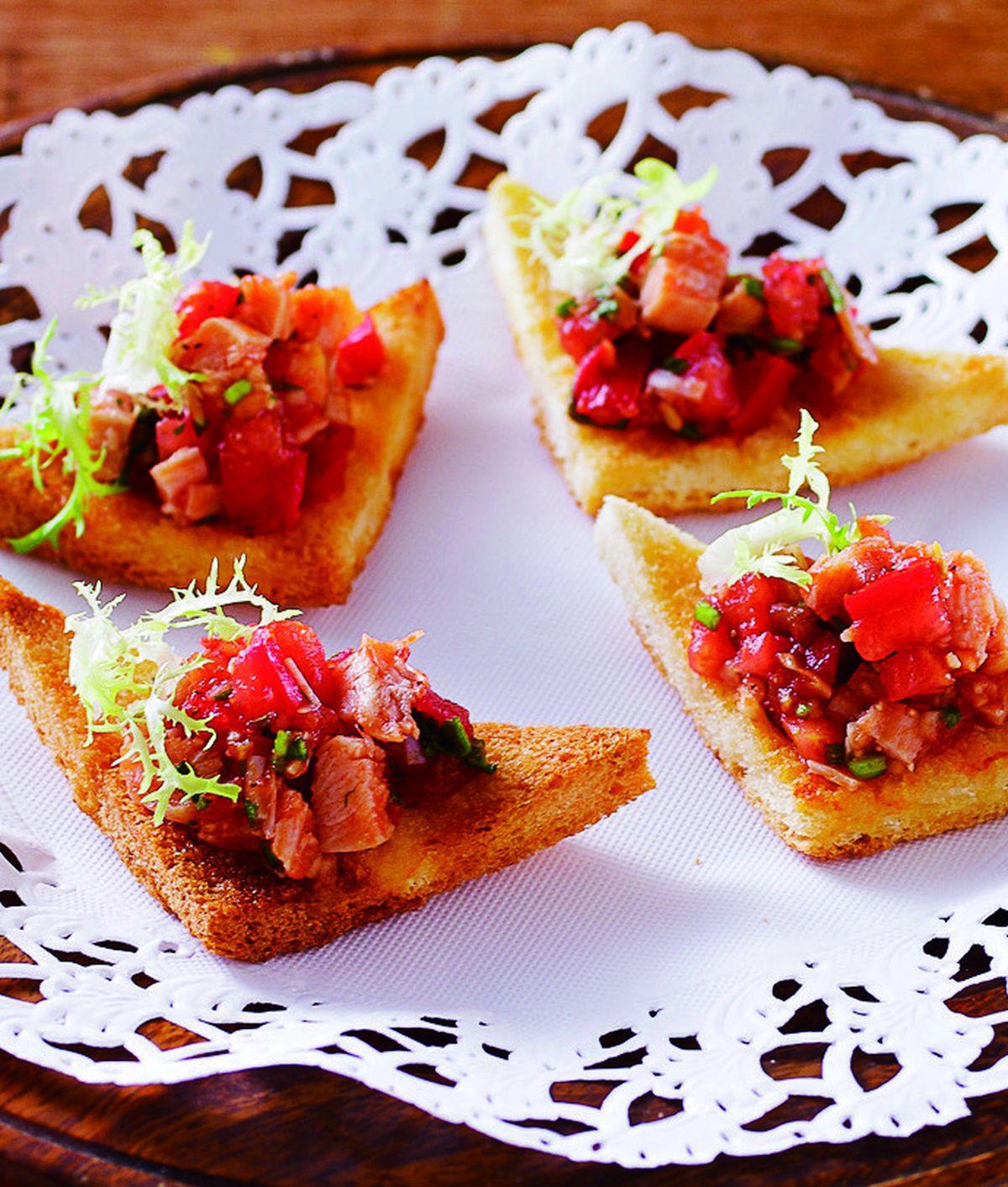 食譜:蕃茄沙沙醬雞肉土司