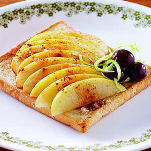 蘋果肉桂土司派