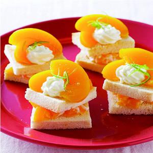 水蜜桃奶油土司