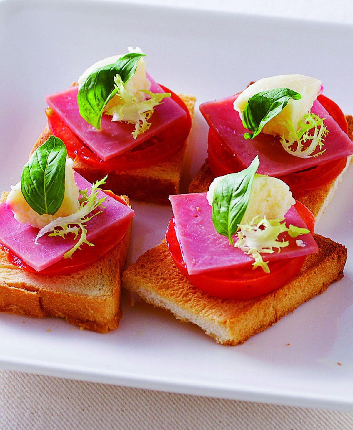 食譜:義式火腿土司