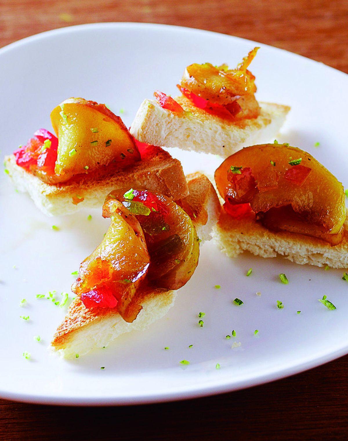 食譜:蜜水果蘋果土司