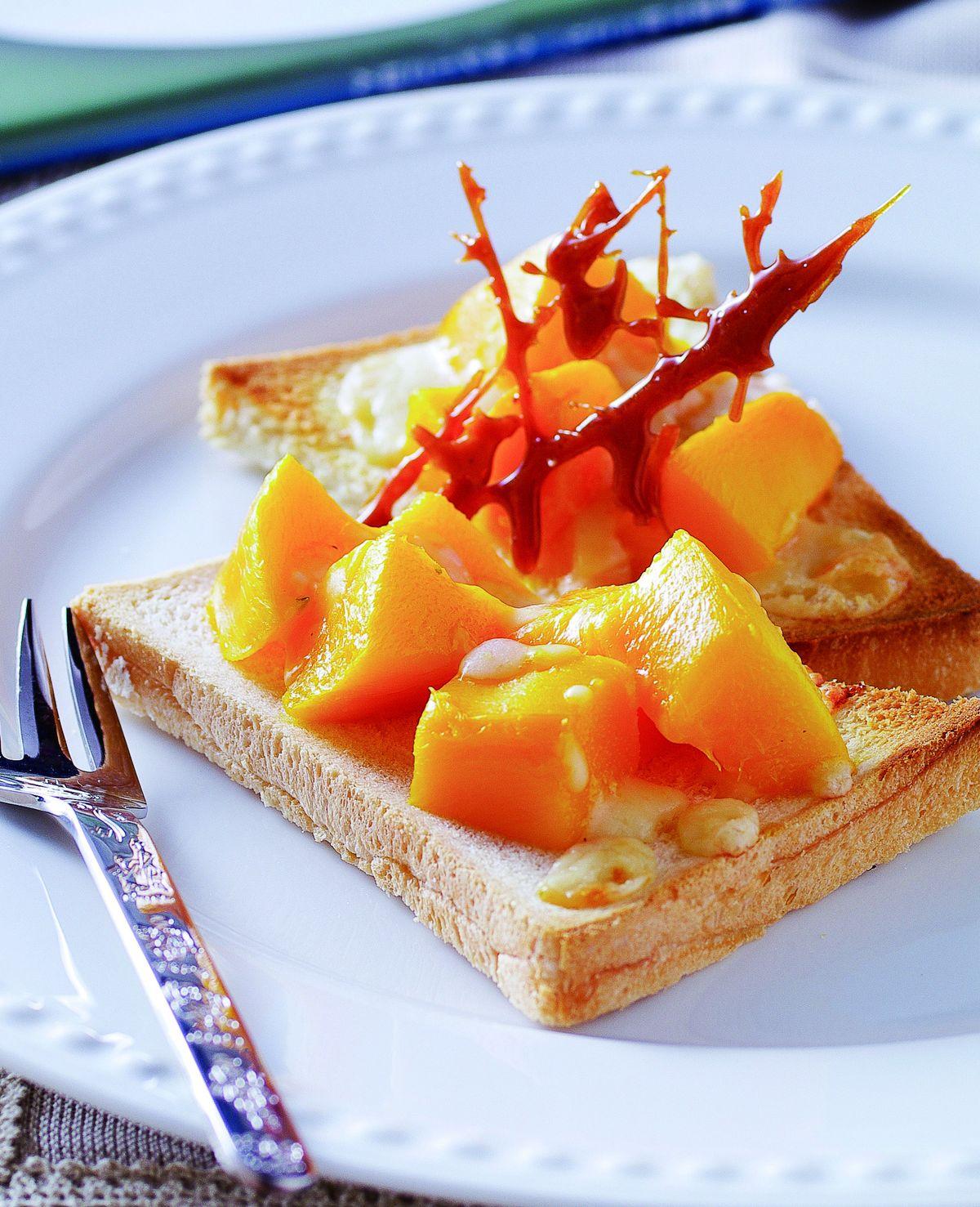 食譜:芒果起司土司