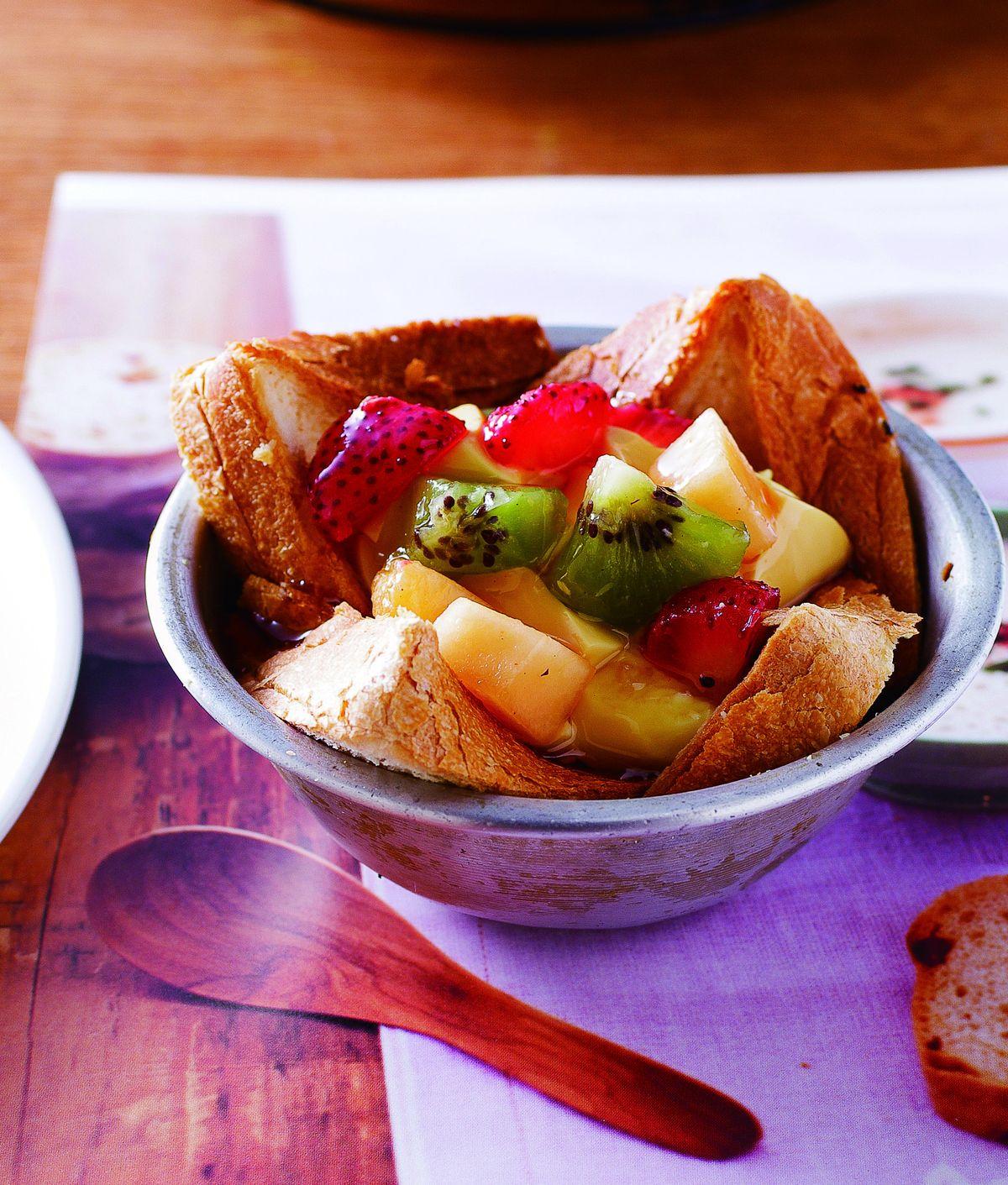 食譜:焦糖布丁土司塔