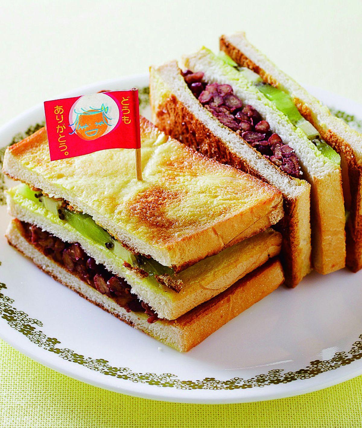 食譜:蜜紅豆奇異果三明治