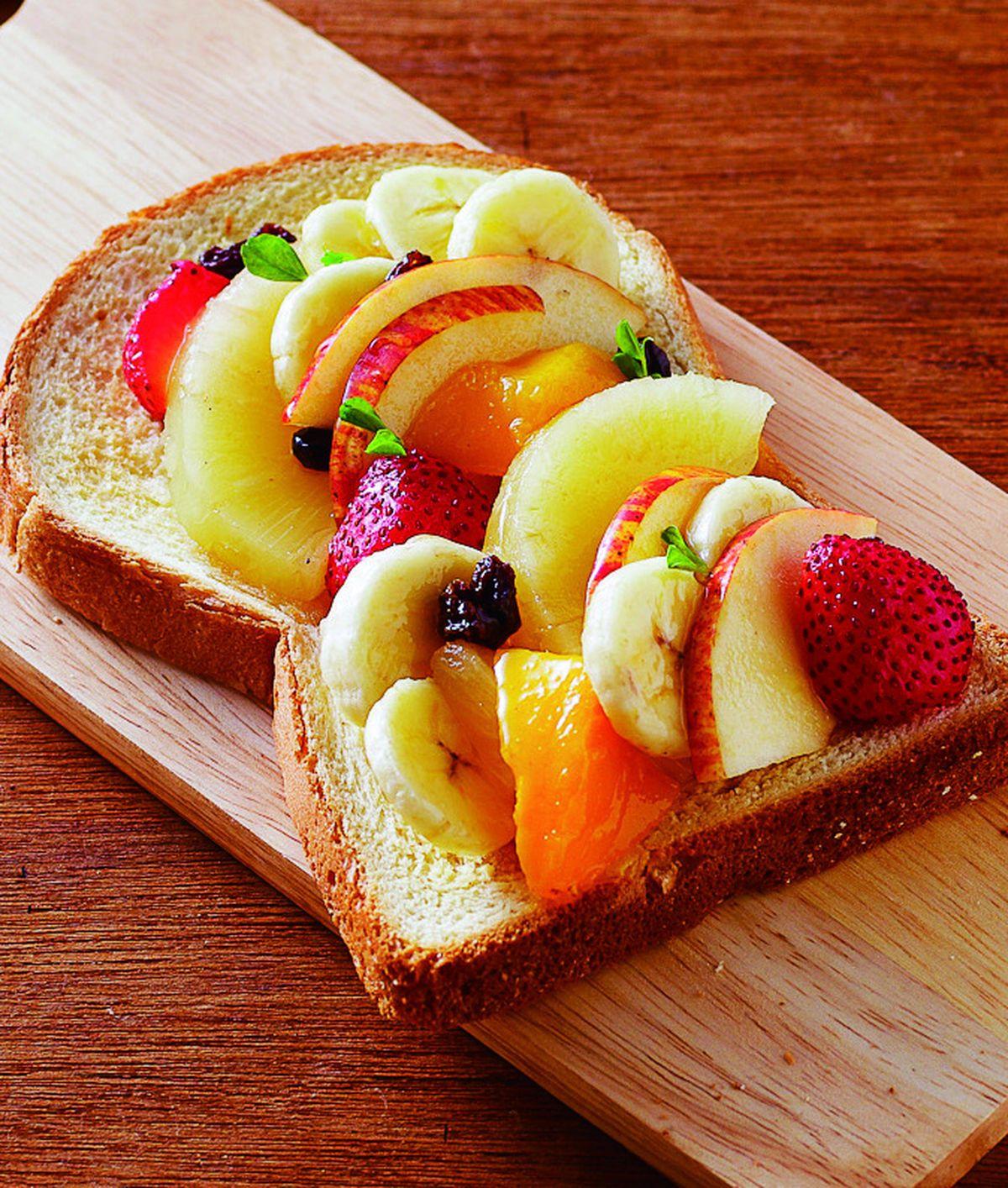 食譜:蜂蜜水果土司
