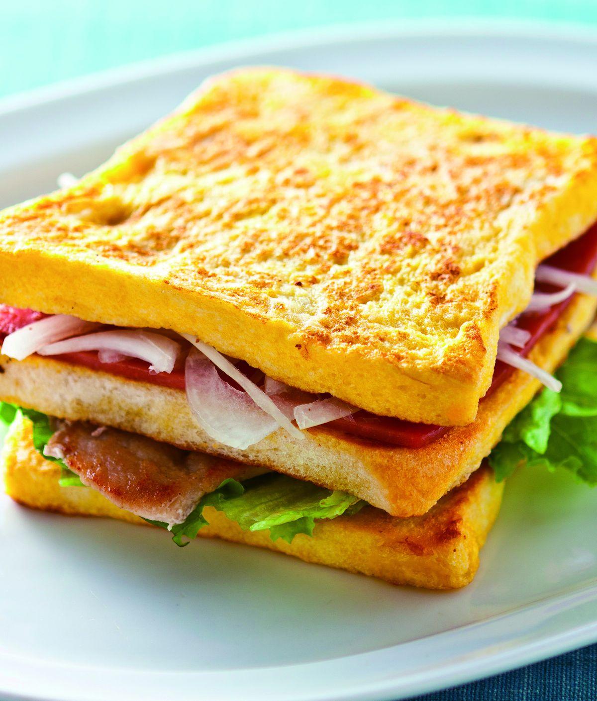 食譜:法式火腿豬排三明治