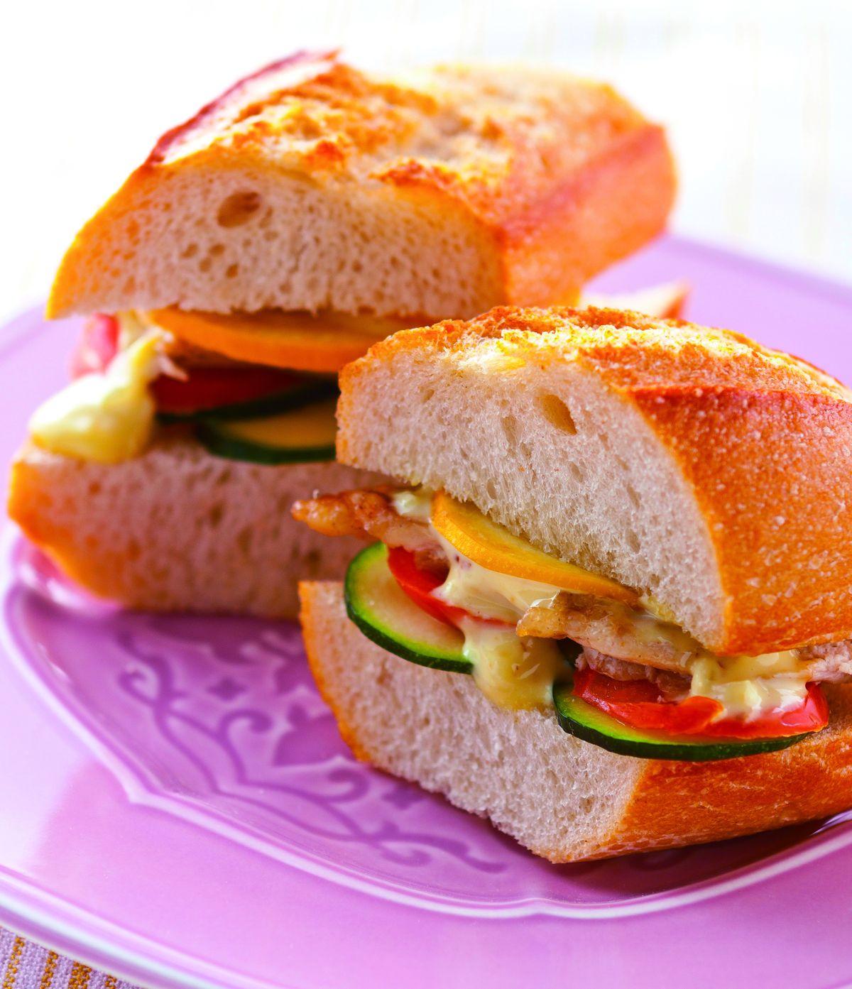 食譜:燻雞櫛瓜三明治