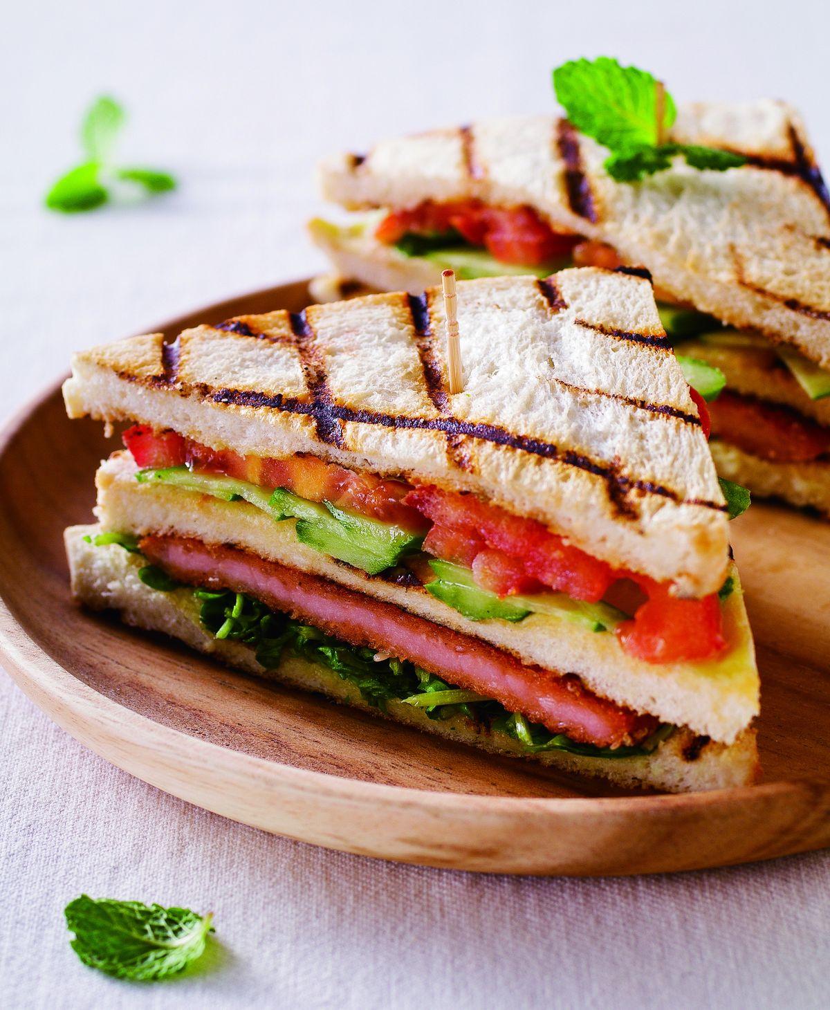食譜:碳烤豬排三明治