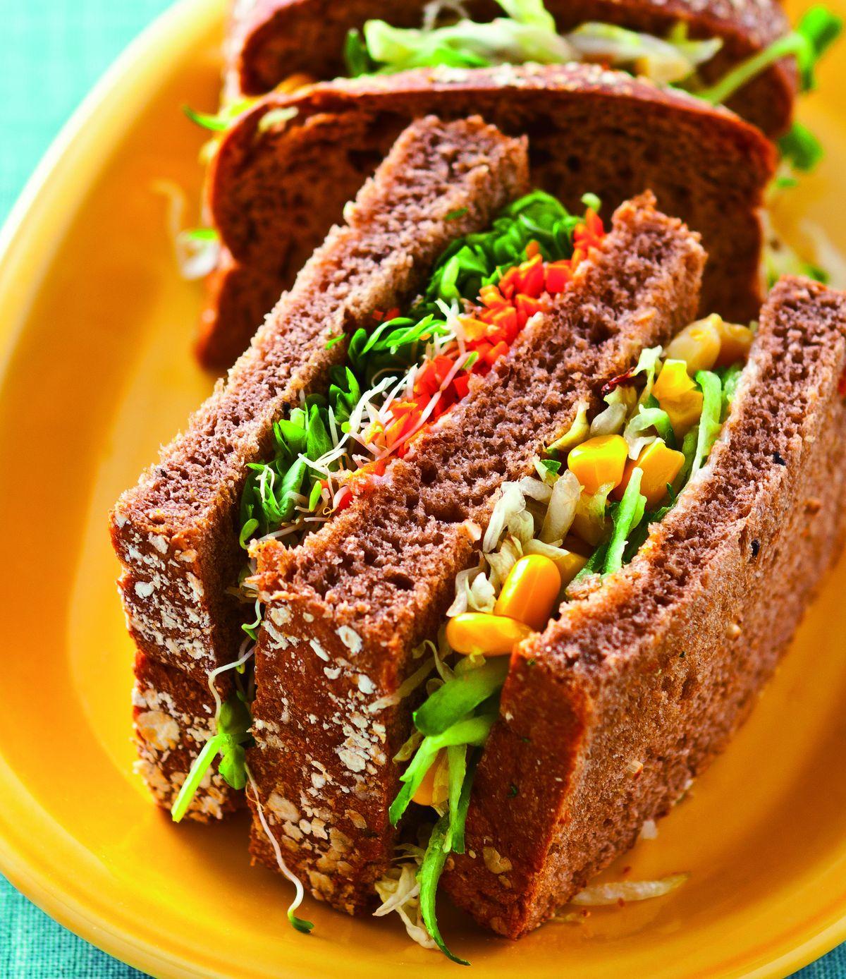 食譜:高纖蔬菜三明治