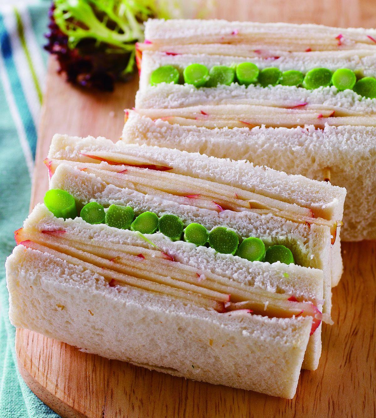 食譜:蘋果蘆筍三明治