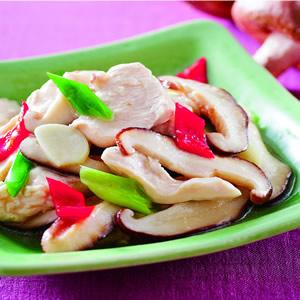 香菇炒嫩雞片