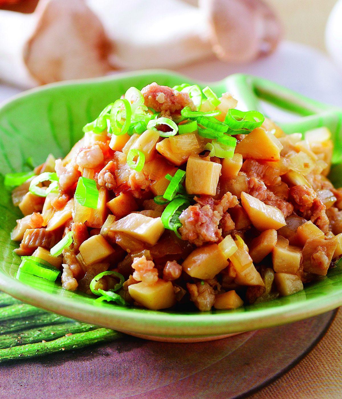 食譜:杏鮑菇炒肉醬