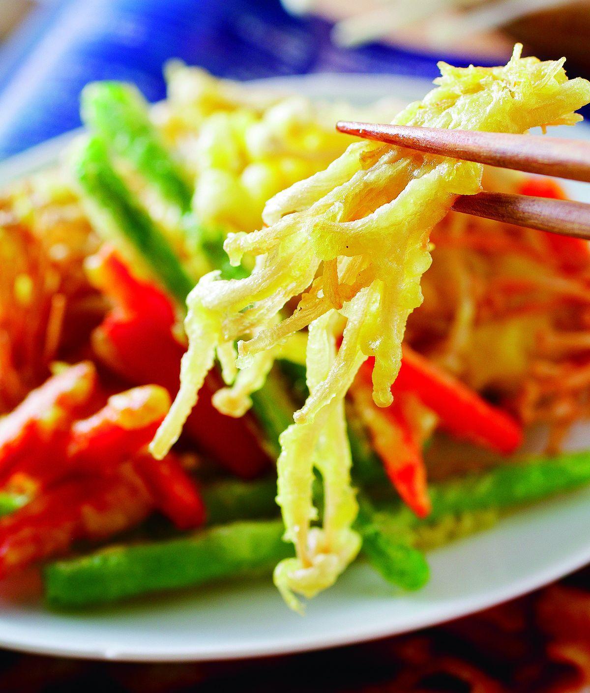 食譜:酥炸金針菇
