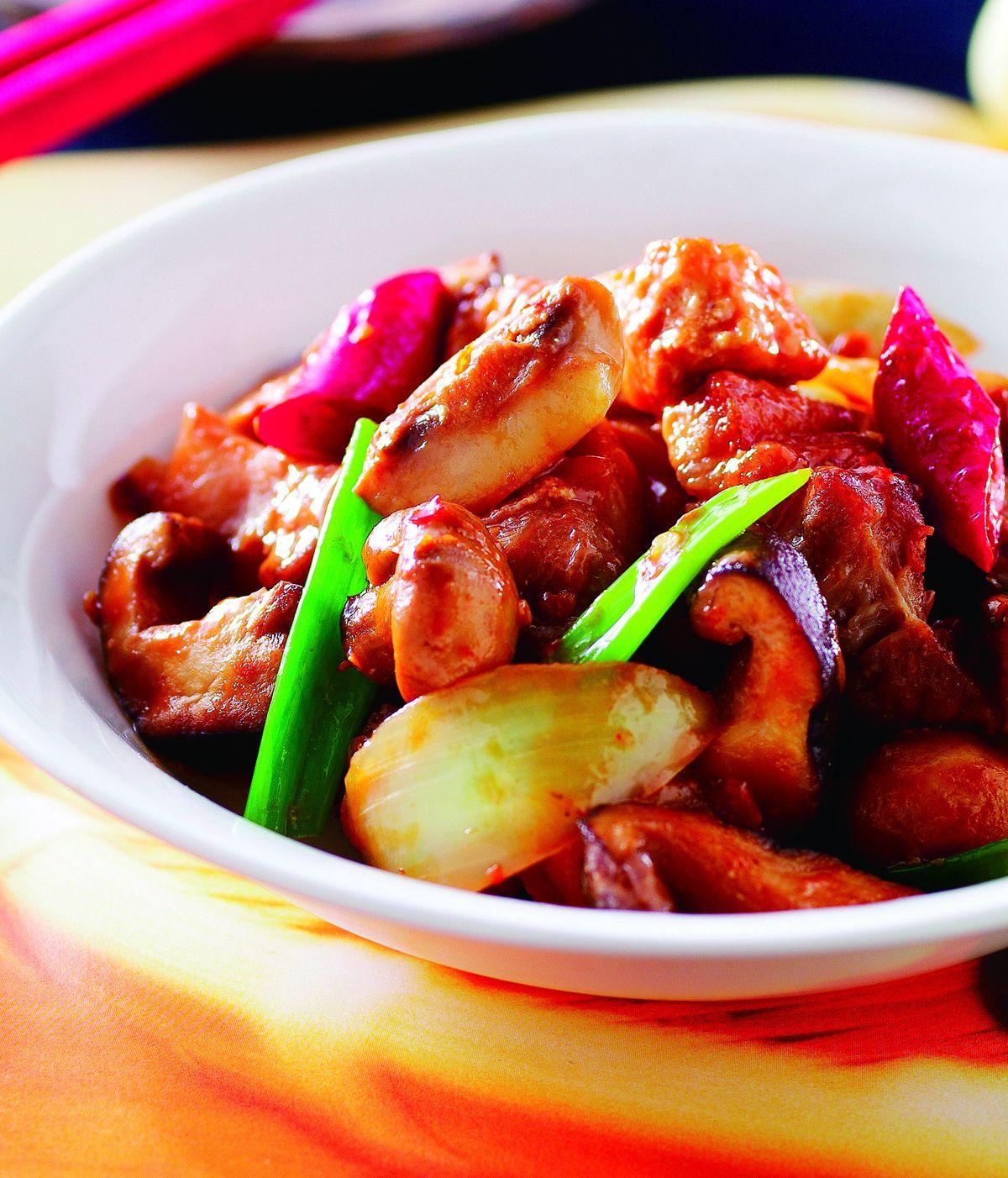 食譜:腐乳蘑菇煲