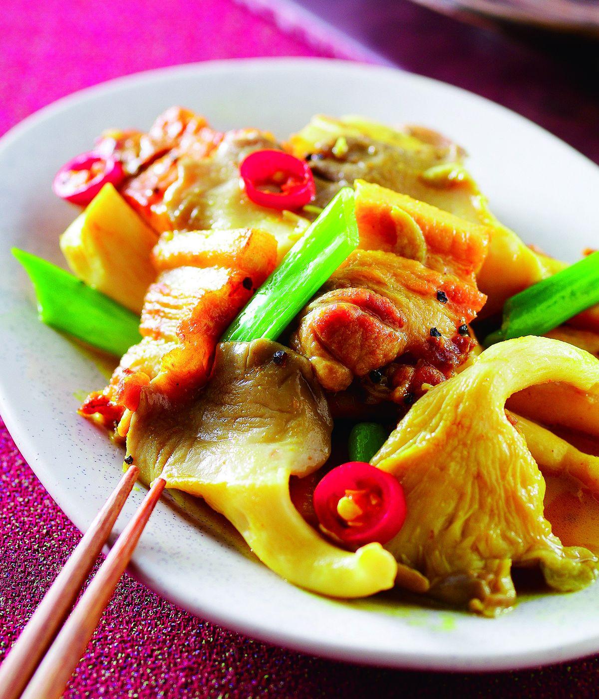 食譜:咖哩燴秀珍菇