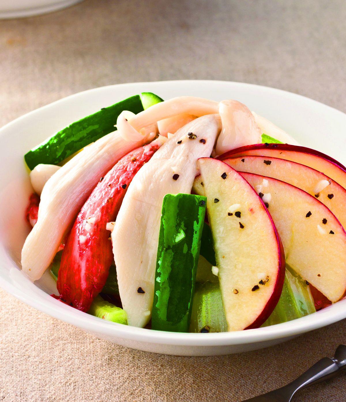 食譜:白靈菇沙拉