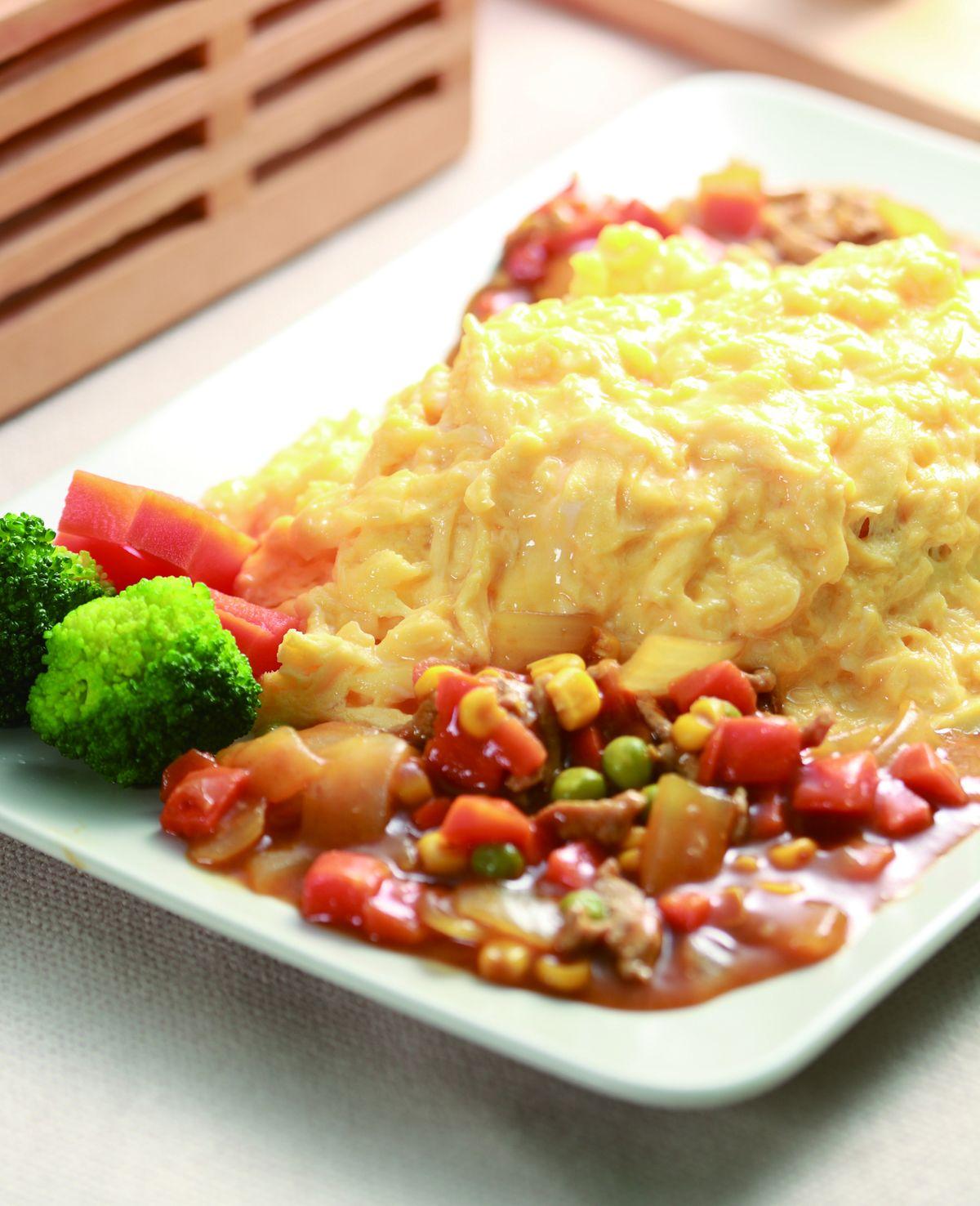 食譜:歐姆蛋包飯(1)