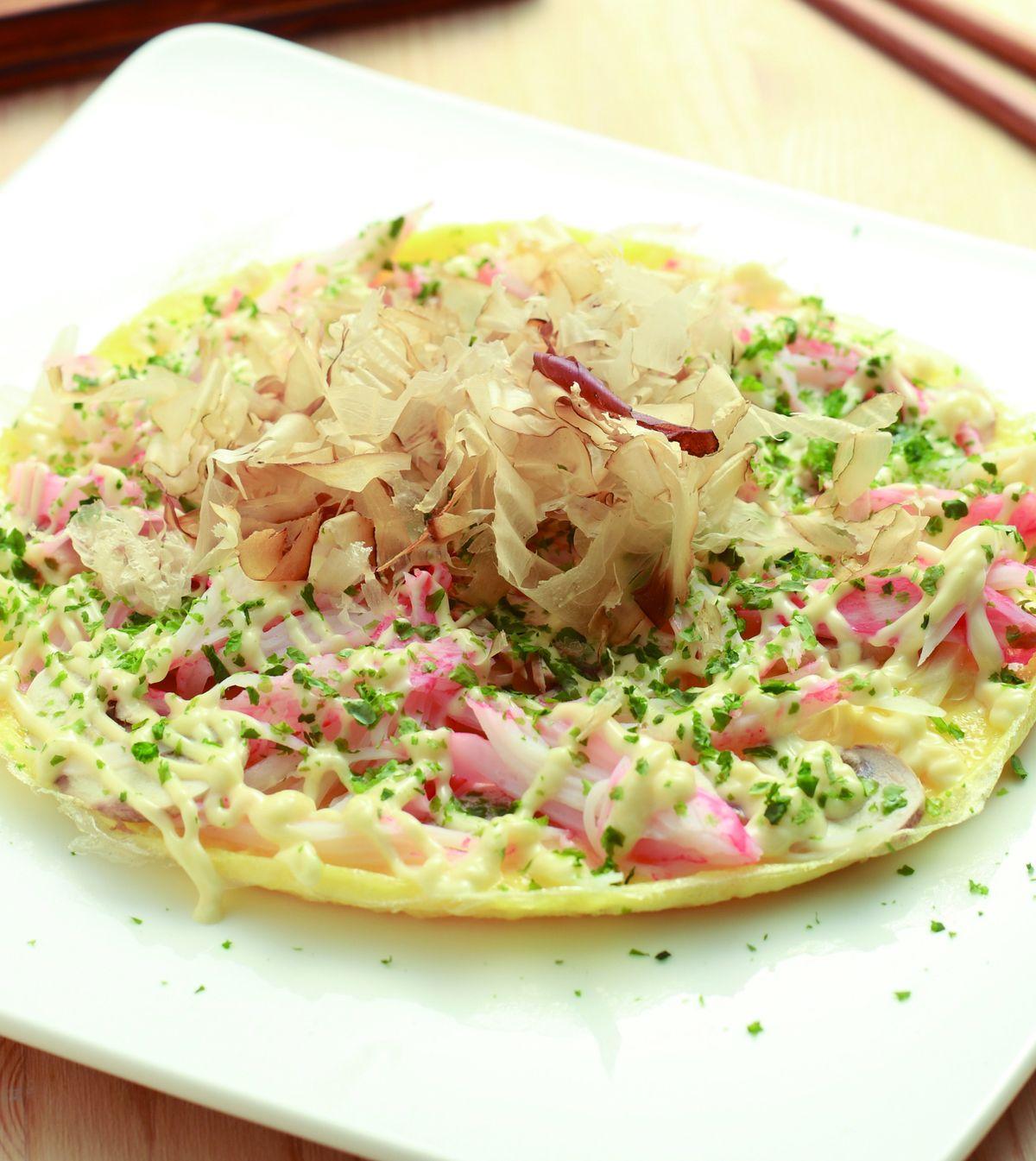食譜:和風海鮮煎蛋餅
