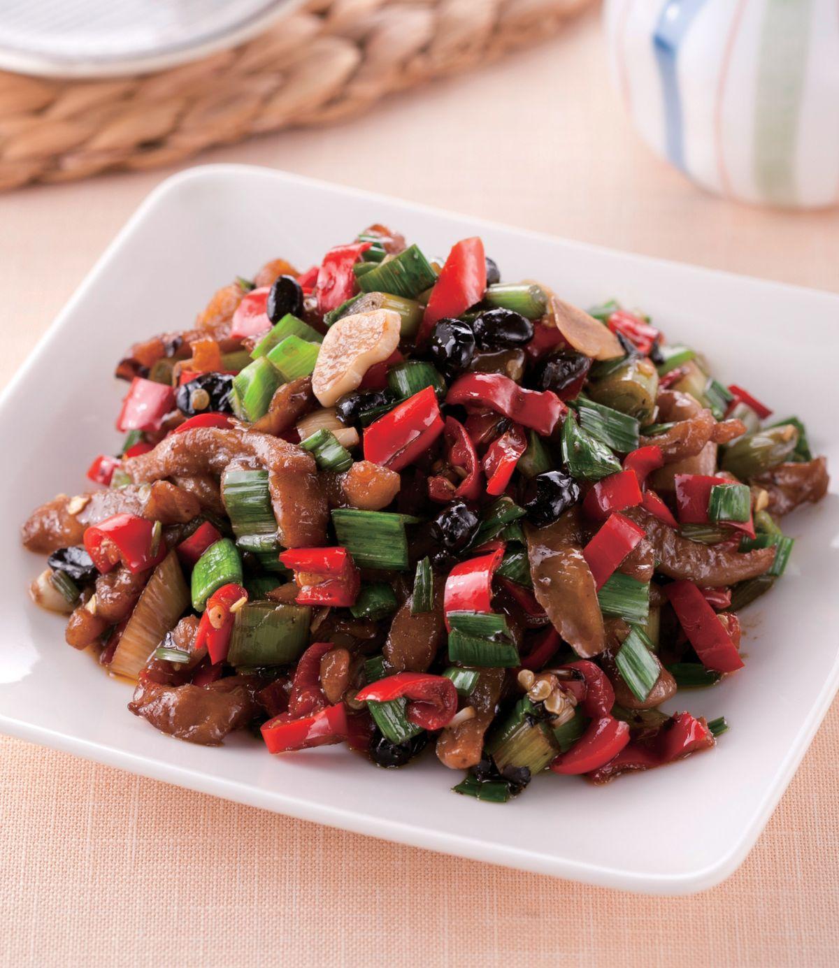 食譜:豆鼓炒辣椒