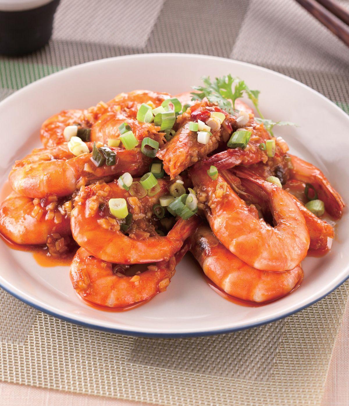 食譜:乾燒草蝦(1)