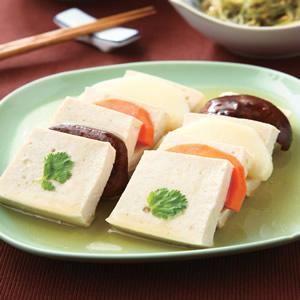 蒸三色豆腐