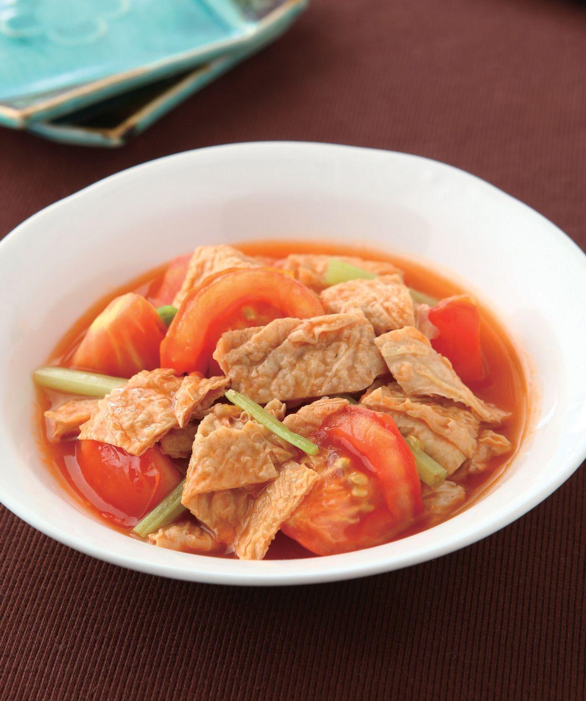 食譜:番茄燒豆皮