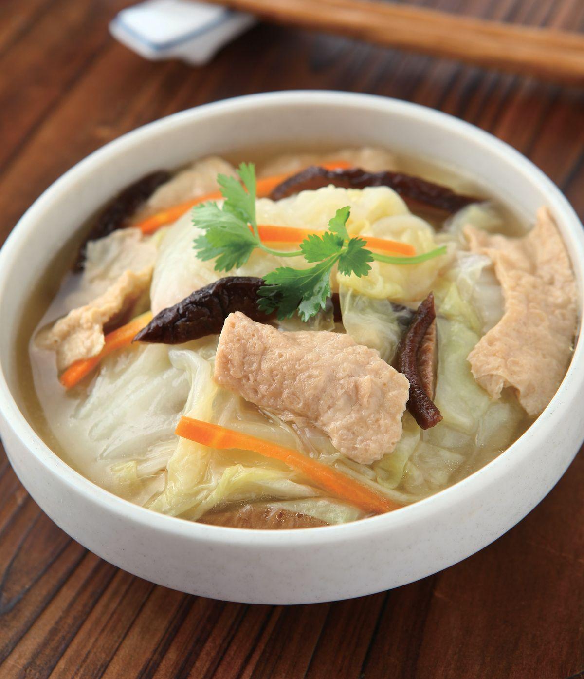 食譜:豆皮白菜滷