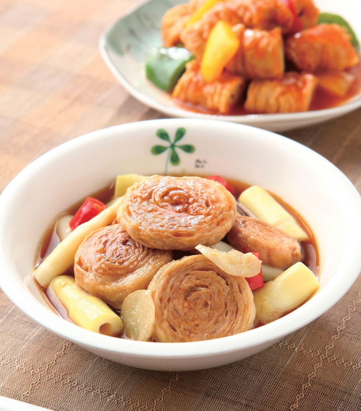 食譜:筍香燜麵輪