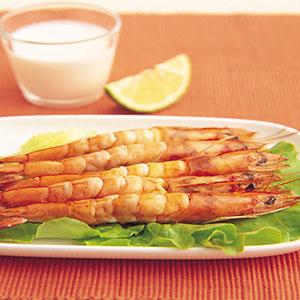 優格鮮蝦串烤