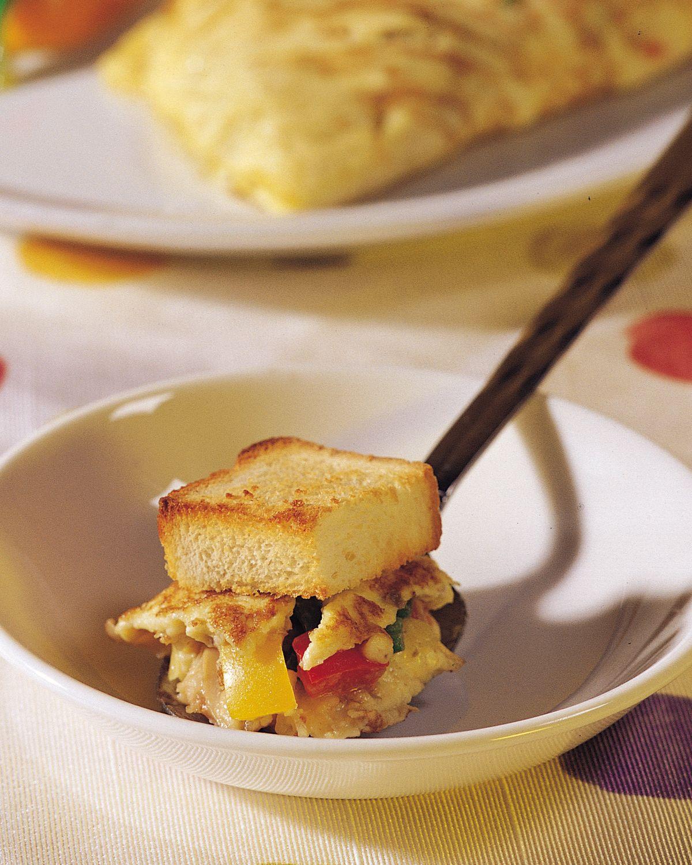 食譜:西班牙蛋卷土司