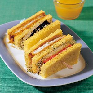 印度咖哩魚排三明治