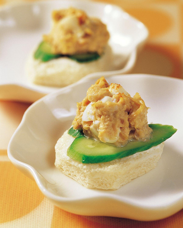 食譜:鮪魚沙拉口味土司茶點