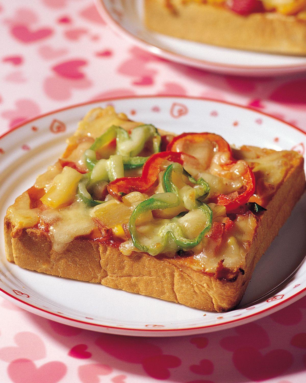 食譜:雙味土司披薩