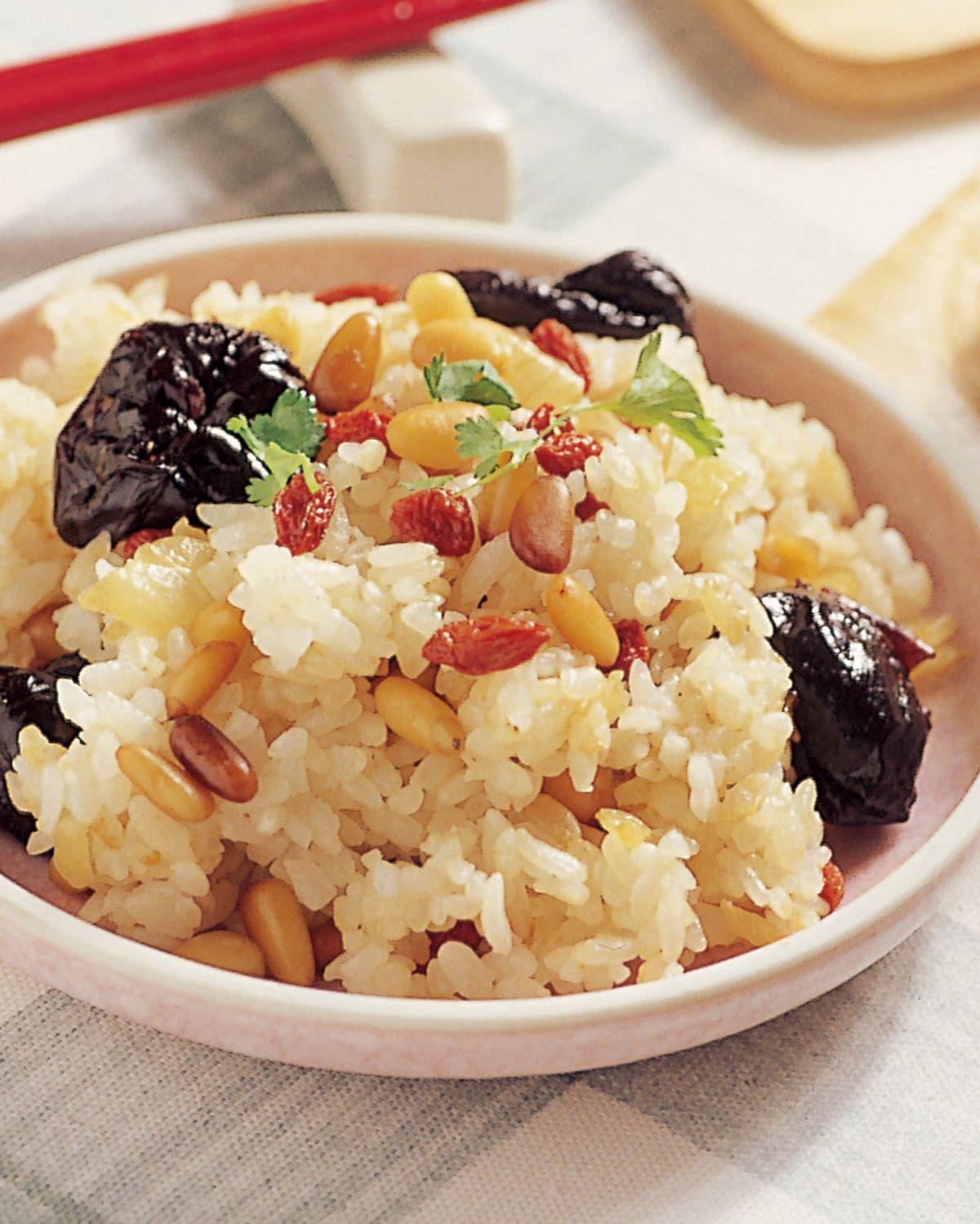 食譜:蜜棗炒飯飯糰