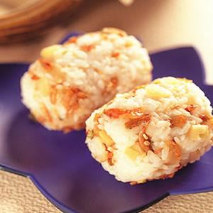 榨菜櫻蝦飯糰