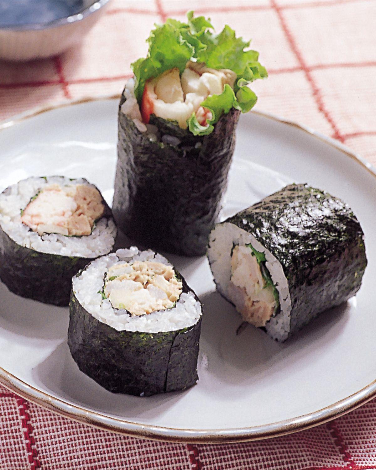 食譜:鮪魚蟹肉沙拉卷